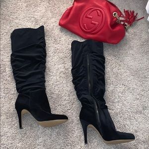 Perfect condition black suede boots